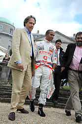 Left to right, the EARL OF MARCH and LEWIS HAMILTON at the Cartier Style et Luxe, the Goodwood Festival of Speed, West Sussex on 13th July 2008.<br /> <br /> NON EXCLUSIVE - WORLD RIGHTS