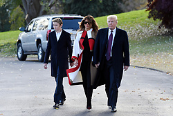 President Donald Trump, First lady Melania Trump and son Barron Trump depart the White House en route to Florida in Washington, DC on November 20, 2018. Photo by Olivier Douliery/ABACAPRESS.COM
