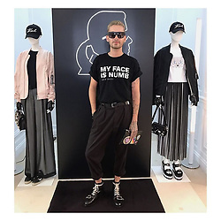 "Tokio Hotel releases a photo on Twitter with the following caption: """"thanks for having me 🙏🏼 @karllagerfeld #paris #parisfashionweek #day3 https://t.co/PEiODXY7fs"""". Photo Credit: Twitter *** No USA Distribution *** For Editorial Use Only *** Not to be Published in Books or Photo Books ***  Please note: Fees charged by the agency are for the agency's services only, and do not, nor are they intended to, convey to the user any ownership of Copyright or License in the material. The agency does not claim any ownership including but not limited to Copyright or License in the attached material. By publishing this material you expressly agree to indemnify and to hold the agency and its directors, shareholders and employees harmless from any loss, claims, damages, demands, expenses (including legal fees), or any causes of action or allegation against the agency arising out of or connected in any way with publication of the material."