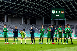NK Olimpija celebrate during football match between NK Olimpija Ljubljana and NK Aluminij in Round #27 of Prva liga Telekom Slovenije 2018/19, on April 14th, 2019 in Stadium Stozice, Slovenia Photo by Matic Ritonja / Sportida