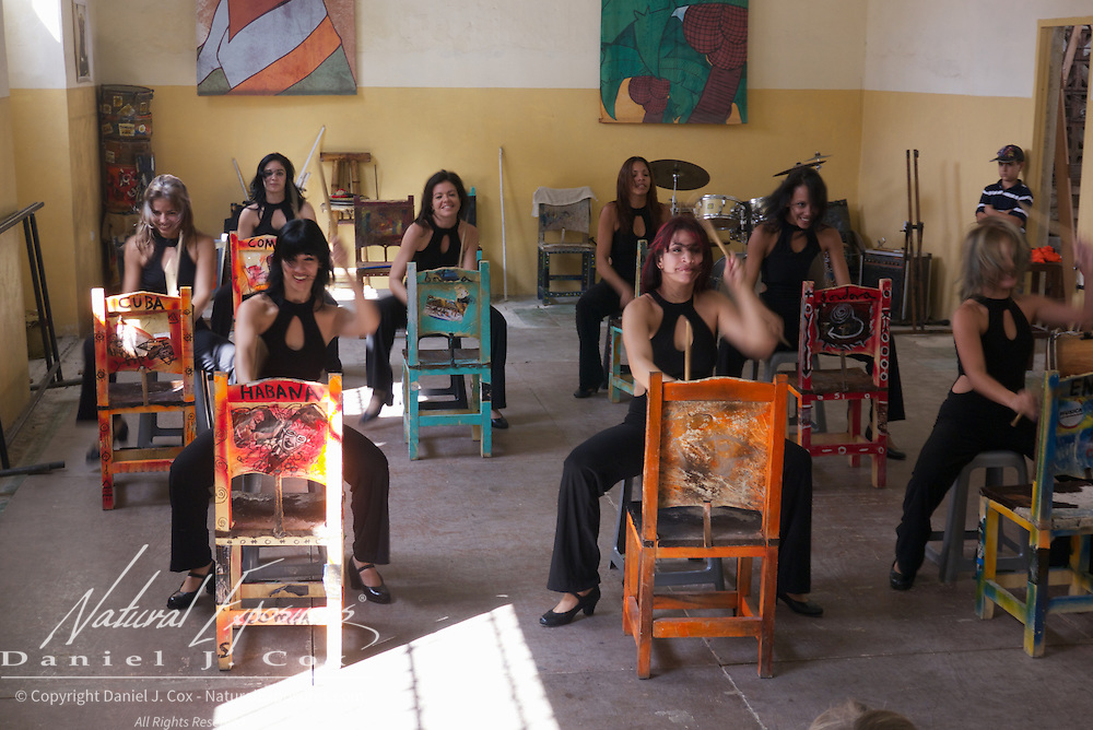 The Habana Compas Dance troupe performing at their studio in Havana, Cuba.