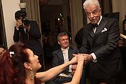 CLEO ROCOS; NICKY HASLAM, Nicky Haslam hosts dinner at  Gigi's for Leslie Caron. 22 Woodstock St. London. W1C 2AR. 25 March 2015