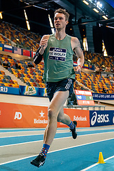 Rody de Wolff in action on 1000 meters during the Dutch Athletics Championships on 14 February 2021 in Apeldoorn