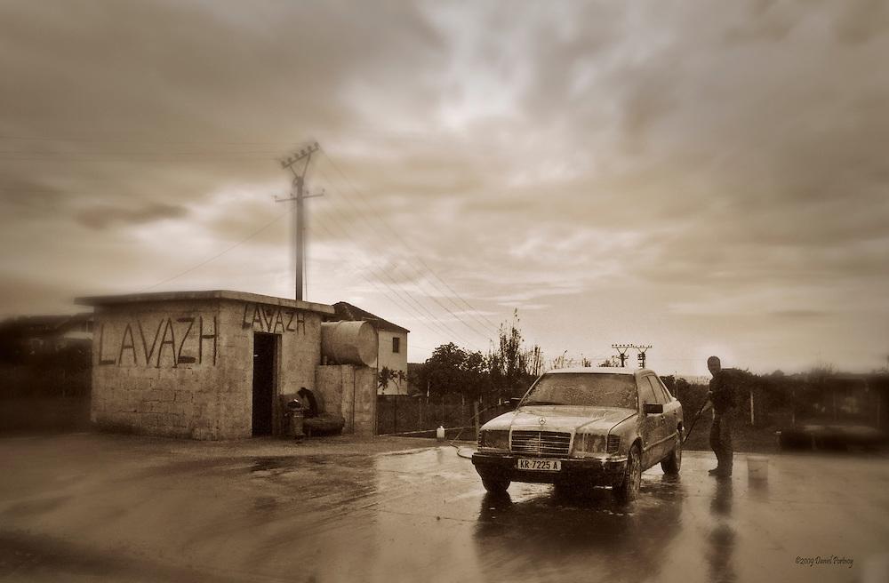 Albania carwash lavazh Mercedes