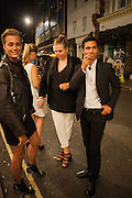 YASMIN LE BON;  JADE CALLIVA , West End opening of RSC production of Julius Caesar at the Noel Coward Theatre on Saint Martin's Lane. After-party  at Salvador and Amanda, Gt. Newport St. London. 15 August 2012.