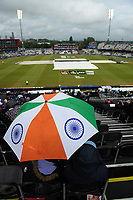 Cricket - 2019 ICC Cricket World Cup - Semi-Final: India vs. New Zealand<br /> <br /> Fans in good spirits as rain delays play with New Zealand 211-5, at Old Trafford, Manchester.<br /> <br /> COLORSPORT/ASHLEY WESTERN