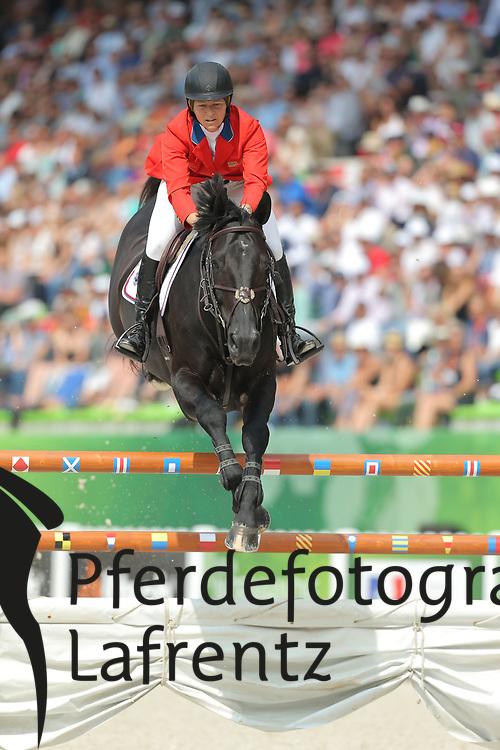 Madden, Beezie, Cortes ´C<br /> Normandie - WEG 2014<br /> Springen - Finale III<br /> © www.sportfotos-lafrentz.de/ Stefan Lafrentz