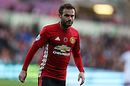 Juan Mata of Manchester Utd looks on. Premier league match, Swansea city v Manchester Utd at the Liberty Stadium in Swansea, South Wales on Sunday 6th November 2016.<br /> pic by  Andrew Orchard, Andrew Orchard sports photography.
