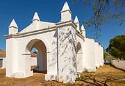 Whitewashed hermitage chapel Ermida de Nossa Senhora da Represa de Vila Ruiva, Cuba, Beja district, Baixo Alentejo, Portugal, southern Europe