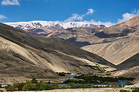 Tadjikistan, Asie centrale, Gorno Badakhshan, Haut Badakhshan, le Pamir, vallée du Wakhan, la rivière Pamir sépare le Tadjikistan et l'Afghanistan // Tajikistan, Central Asia, Gorno Badakhshan, the Pamir, Wakhan valley, Pamir river between Tajikistan and Afghanistan
