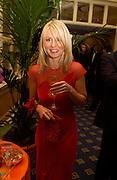 Esther McVey, , British Red Cross Winter Ball, Hilton, 22 November 2003. © Copyright Photograph by Dafydd Jones 66 Stockwell Park Rd. London SW9 0DA Tel 020 7733 0108 www.dafjones.com