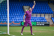 Max Crocombe (Southport) during the Vanarama National League match between Tranmere Rovers and Southport at Prenton Park, Birkenhead, England on 6 February 2016. Photo by Mark P Doherty.
