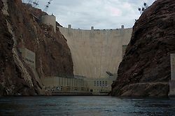 Hoover Dam on border of Arizona, AZ, Nevada, NV, flood control, drinking water source, Colorado River, image nv408-18634.Photo copyright: Lee Foster, www.fostertravel.com, lee@fostertravel.com, 510-549-2202