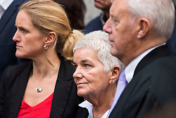 © Licensed to London News Pictures. 23/11/2016. London, UK. Jo Cox's family, sister Kim Leadbeater and parents Jean and Gordon Leadbeater outside the Old Bailey in London where a guilty verdict was returned in the murder trial of Labour MP Jo Cox. Thomas Mair was found guilty of shooting and stabbing the mother-of-two in Birstall, West Yorkshire, on 16 June. Photo credit: Ben Cawthra/LNP