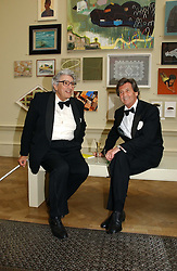 Left to right, the EARL OF GOWRIE and LORD BRAGG at The Royal Academy dinner before the official opening of the Summer Exhibition held at the Royal Academy of Art, Burlington House, Piccadilly, London W1 on 6th June 2006.<br /><br />NON EXCLUSIVE - WORLD RIGHTS
