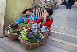 Two Women Vendors, Mount Popa