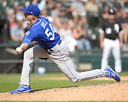 CHICAGO - SEPTEMBER 12:  Tim Hill #54 of the Kansas City Royals pitches against the Chicago White Sox on September 12, 2019 at Guaranteed Rate Field in Chicago, Illinois.  (Photo by Ron Vesely)  Subject:   Tim Hill