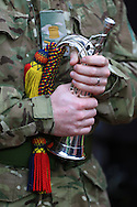 A soldier holds his bugle - Manchester United vs. Crystal Palace - Barclay's Premier League - Old Trafford - Manchester - 08/11/2014 Pic Philip Oldham/Sportimage
