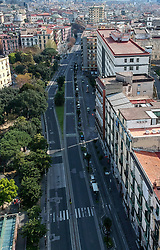 EDITORS NOTE: Image was created with a drone. View of the empty Umberto street in Naples city, after the Italian government has imposed unprecedented national restrictions on controlling the coronavirus COVID 19.on april 5, 2020 Photo by Salvatore Laporta / IPA/ABACAPRESS.COM