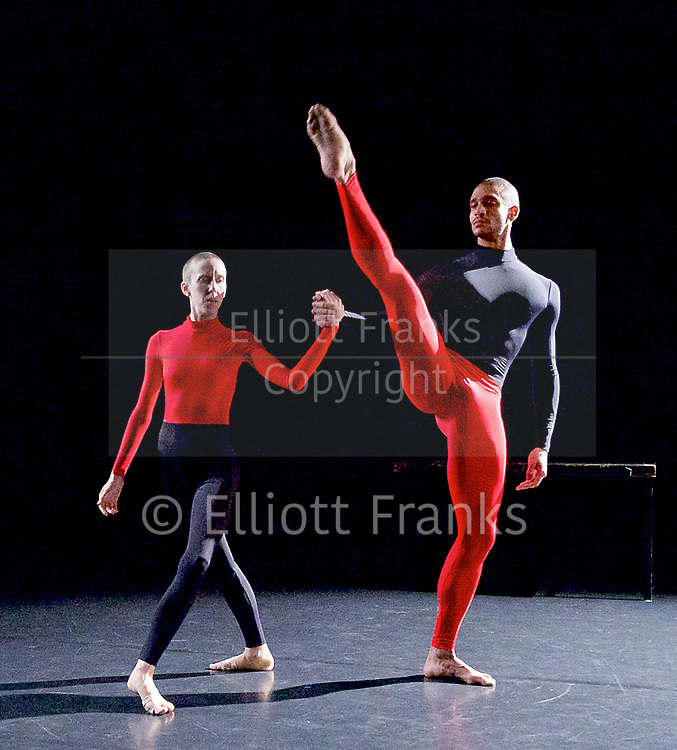 Julie Cunningham and Company<br /> Double Bill<br /> at The Pitt, Barbican Theatre, London, Great Britain <br /> 8th March 2017 <br /> <br /> Julie Cunningham <br /> Harry Alexander<br /> <br /> <br />  <br /> Award-winning dancer and nominee of the 2016 Critics' Circle National Dance Award for Emerging Artist, Julie Cunningham launches her newly formed company, and makes her Barbican choreographic debut with an expressive double bill about gender and identity.<br />  <br /> <br /> <br /> Piece 2: To Be Me <br /> <br /> <br /> Photograph by Elliott Franks <br /> Image licensed to Elliott Franks Photography Services