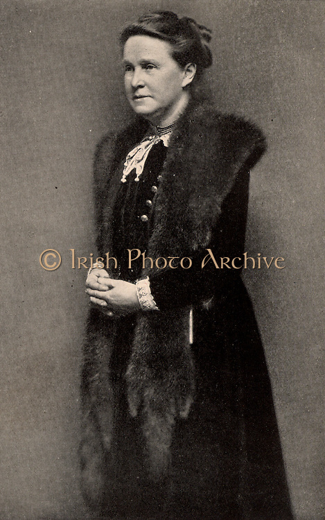 Millicent Fawcett (born Garrett - 1847-1929) English feminist, for 50 years a leader of movement for women's suffrage.  Sister of the pioneer woman physician Elizabeth Garrett Anderson,  and wife of Henry Fawcett, blind radical politician.