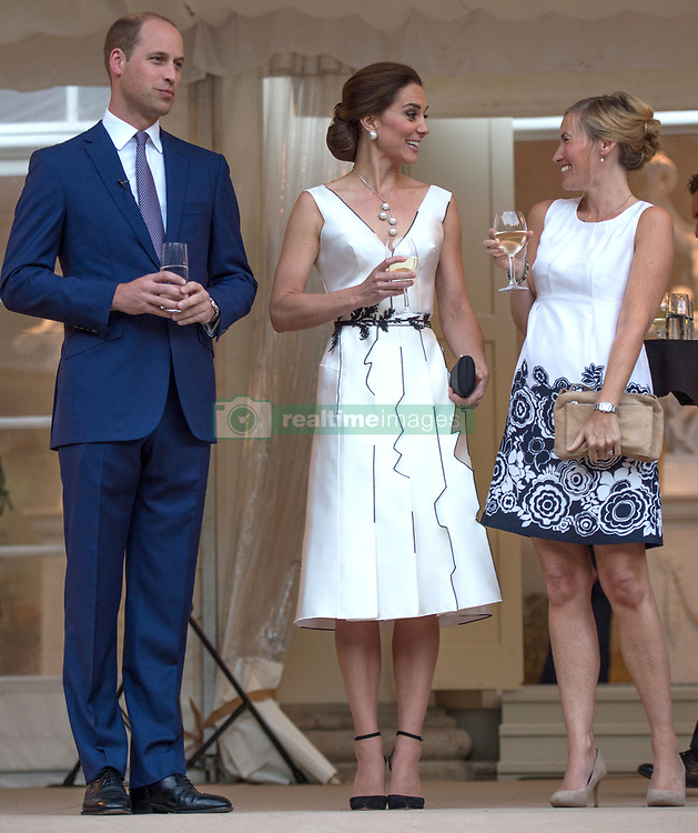 The Duke and Duchess of Cambridge attend The Queen's Birthday Garden Party at the Orangery, Lazienki Park in Warsaw, Poland, on the 17th July 2017. 17 Jul 2017 Pictured: Prince William, Duke of Cambridge, Catherine, Duchess of Cambridge, Kate Middleton. Photo credit: MEGA TheMegaAgency.com +1 888 505 6342