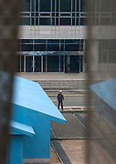 """NORTH KOREA:<br /> The pictures Kim Jong Un doesn't want you to see<br /> <br /> Since 2008, Eric Lafforgue ventured to North Korea six times. Thanks to digital memory cards, I was able to save photos that I was forbidden to take or was told to delete by the minders.<br /> <br /> Photo Shows:   At the DMZ, I took a picture of the South Korean side. A soldier asked me to delete this, as it was not in the mood of a """"military"""" photo with the blurred curtains effect<br /> ©Eric Lafforgue/Exclusivepix Media"""