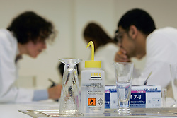 Chemistry students working in a lab