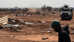 South Africa - Pretoria - 12 August 2020. Police in Rosslyn demolish houses which were built on an illegally sold piece of land.<br /> Picture: Oupa Mokoena/African News Agency (ANA)