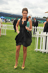 SASKIA BOXFORD at the 25th annual Cartier International Polo held at Guards Polo Club, Great Windsor Park, Berkshire on 26th July 2009.