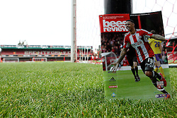 Match day programme at Griffin Park - Photo mandatory by-line: Robbie Stephenson/JMP - Mobile: 07966 386802 - 08/05/2015 - SPORT - Football - Brentford - Griffin Park - Brentford v Middlesbrough - Sky Bet Championship