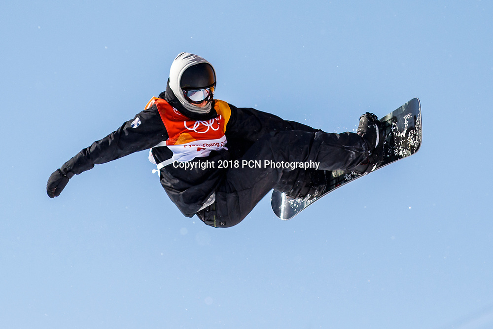 Janne Korpi (FIN) competing in  the Men's Snowboarding Half Pipe Qualification at the Olympic Winter Games PyeongChang 2018
