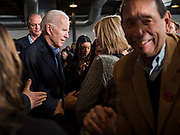 23 NOVEMBER 2019 - DES MOINES, IOWA: Former Vice President JOE BIDEN works the rope line after making a speech at a campaign event in Des Moines Saturday. Vice President Biden announced that Tom Vilsack, the former Democratic governor of Iowa, endorsed him. Biden and Vilsack appeared with their wives at an event in Des Moines. Iowa hosts the first presidential selection event of the 2020 election cycle. The Iowa caucuses are on February 3, 2020.        PHOTO BY JACK KURTZ