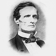 Jefferson Finis Davis (June 3, 1808 – December 6, 1889) was an American politician who served as the president of the Confederate States from 1861 to 1865. As a member of the Democratic Party, he represented Mississippi in the United States Senate and the House of Representatives before the American Civil War. He previously served as the United States Secretary of War from 1853 to 1857 under President Franklin Pierce. from the book ' The Civil war through the camera ' hundreds of vivid photographs actually taken in Civil war times, sixteen reproductions in color of famous war paintings. The new text history by Henry W. Elson. A. complete illustrated history of the Civil war