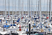 Yachts in the marina at Dun Laoghaire harbour, East Coast of Ireland