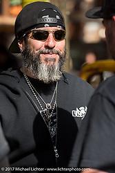 Buckcherry drummer Xavier Muriel  at the Cycle Source bike show at the Broken Spoke Saloon during Daytona Beach Bike Week. FL. USA. Tuesday, March 14, 2017. Photography ©2017 Michael Lichter.