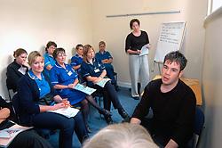 Nurses & medical staff on training course about the use of antibiotics
