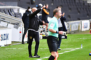 MK Dons' Manager Russell Martin during the EFL Sky Bet League 1 match between Milton Keynes Dons and Hull City at stadium:mk, Milton Keynes, England on 21 November 2020.