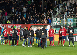 03.04.2019, TGW Arena, Pasching, AUT, OeFB Uniqa Cup, LASK vs SK Rapid Wien, Halbfinale, im Bild Rapid feiert in Pasching // during the halffinal match of the ÖFB Uniqa Cup between LASK and SK Rapid Wien at the TGW Arena in Pasching, Austria on 2019/04/03. EXPA Pictures © 2019, PhotoCredit: EXPA/ Reinhard Eisenbauer