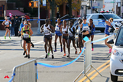 lead women in Brooklyn, <br /> Pashley and Diver (background) run off course<br /> TCS New York City Marathon 2019
