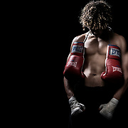 Boxing Life: Noah Fleming.  Lifestyle photoshoot with Noah Fleming at Grampa's Boxing Gym in Westminster, California on April 28, 2017.  ©Michael Der, All Rights Reserved.  Please contact Michael Der for all licensing requests.
