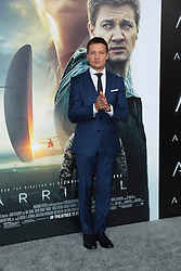 """Jeremy Renner at the premiere of """"Arrival"""".<br /> (Los Angeles, CA)"""