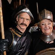NLD/Amsterdam/20120209 - Bn' ers gefotografeerd als de Nachtwacht voor het Goed Geld Gala 2012, Jaap Jongbloed en Erica Terpstra
