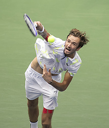 September 8, 2019, Flushing Meadows, New York, United States of America: Daniil Medvedev serves during his Men Singles Finals match against Rafael Nadal on Day 14 of the 2019 US Open at USTA Billie Jean King National Tennis Center on Sunday September 8, 2019 in the Flushing neighborhood of the Queens borough of New York City. JAVIER ROJAS/PI (Credit Image: © Prensa Internacional via ZUMA Wire)