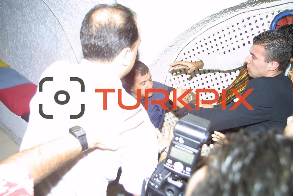 Pamela Anderson with Boy Friends Kid Rock holiday in Bodrum at Turkey. Journalist Yasar Anter (c) during their Halikarnas Disco in Halikarnas.<br /> Photo by Aykut AKICI/TURKPIX
