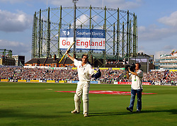 File photo dated 12-09-2005 of England's Kevin Pietersen walks off after being bowled by Australia's Glen McGrath for 158 runs during the final day of the fifth npower Test match at the Brit Oval, London, Monday September 12, 2005. PRESS ASSOCIATION Photo. Photo credit should read: Rui Vieira/PA. PRESS ASSOCIATION Photo. Issue date: Saturday March 17, 2018. Kevin Pietersen appears to have called time on his playing career after deciding not to travel with the Quetta Gladiators to Lahore for their Pakistan Super League play-off. See PA story CRICKET Pietersen . Photo credit should read Rui Vieira/PA Wire.
