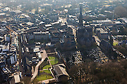 Nederland, Nederland, Noord-Brabant, Veghel,  10-01-2011;.Dorpskern van Veghel met kerk en kerkhof. Village center with the church and cemetry in the village of Veghel. .luchtfoto (toeslag), aerial photo (additional fee required).foto/photo Siebe Swart