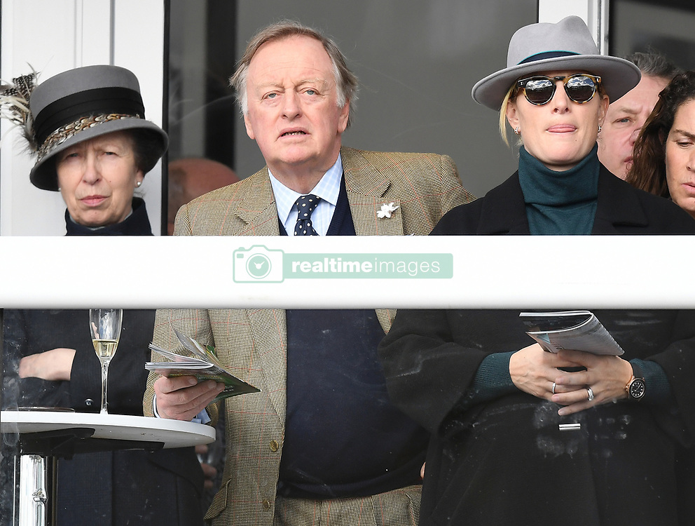 The first day of The Cheltenham Festival 2018 at Cheltenham Racecourse, Cheltenham, Gloucestershire, UK, on the 13th March 2018. 13 Mar 2018 Pictured: Princess Anne, Princess Royal, Andrew Parker Bowles, Zara Tindall, Zara Phillips. Photo credit: James Whatling / MEGA TheMegaAgency.com +1 888 505 6342