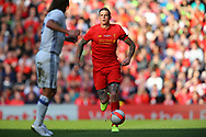 Daniel Agger of Liverpool legends team in action. Liverpool Legends  v Real Madrid Legends, Charity match for the LFC Foundation at the Anfield stadium in Liverpool, Merseyside on Saturday 25th March 2017.<br /> pic by Chris Stading, Andrew Orchard sports photography.