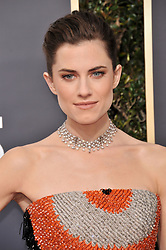 Allison Williams at the 75th Golden Globe Awards held at the Beverly Hilton in Beverly Hills, CA on January 7, 2018.<br /><br />(Photo by Sthanlee Mirador)